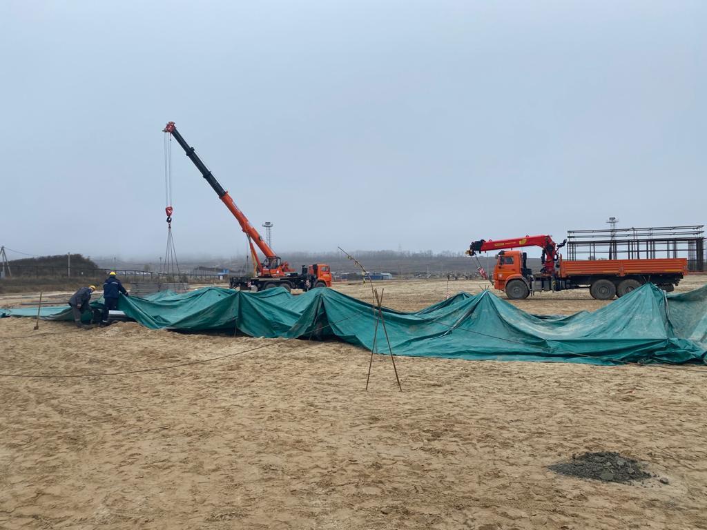 Строители АО «КОНЦЕРН ТИТАН-2» начали бетонировать фундамент градирни второго энергоблока Курской АЭС-2