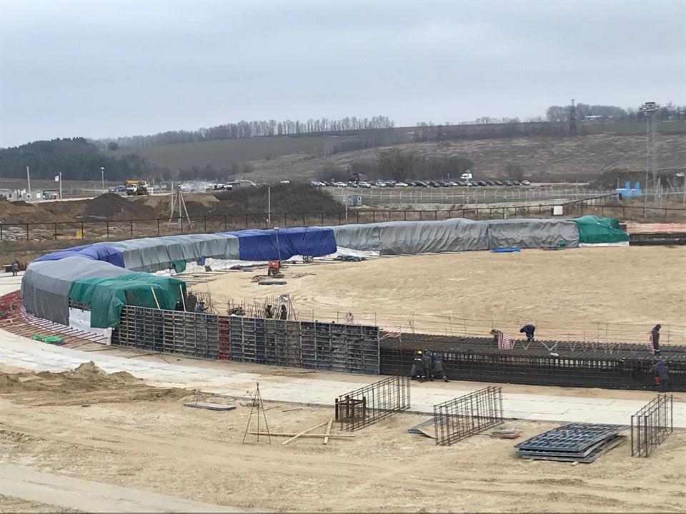Специалисты АО «КОНЦЕРН ТИТАН-2» продолжают бетонирование фундамента градирни второго энергоблока Курской АЭС-2